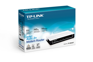 ADSL 2+ TD-8840T TP-Link DSL Modem Router box - lisconet