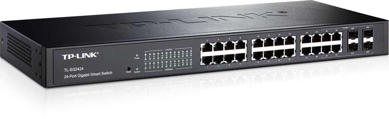 TP-Link TL-SG2424 24-Port Gigabit Smart Switch 4 SFP Slots