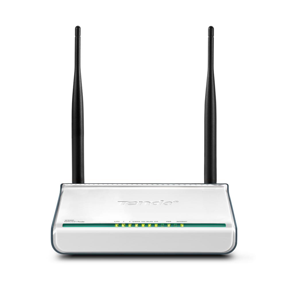 tenda w300d wireless n adsl2 2 modem router 300mbps. Black Bedroom Furniture Sets. Home Design Ideas