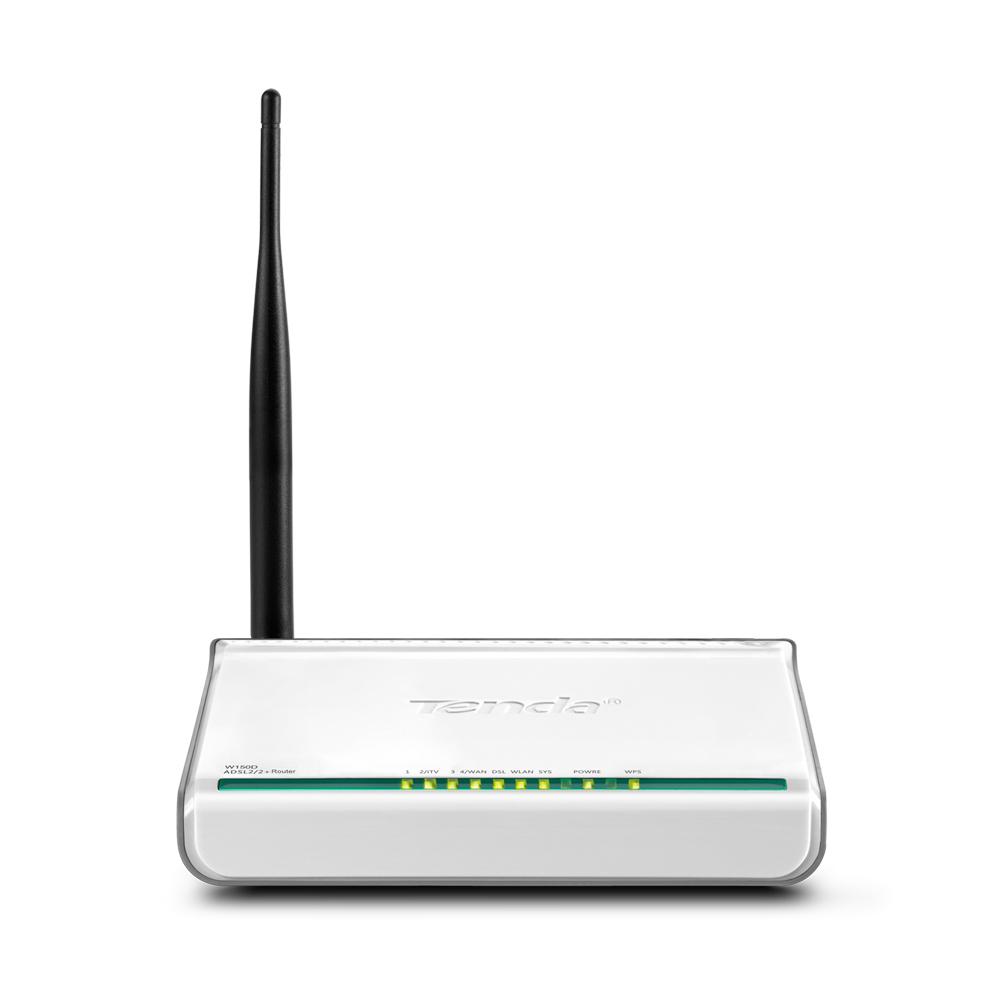 Tenda W150D 4 Port WLAN Modem Router -Lisconet