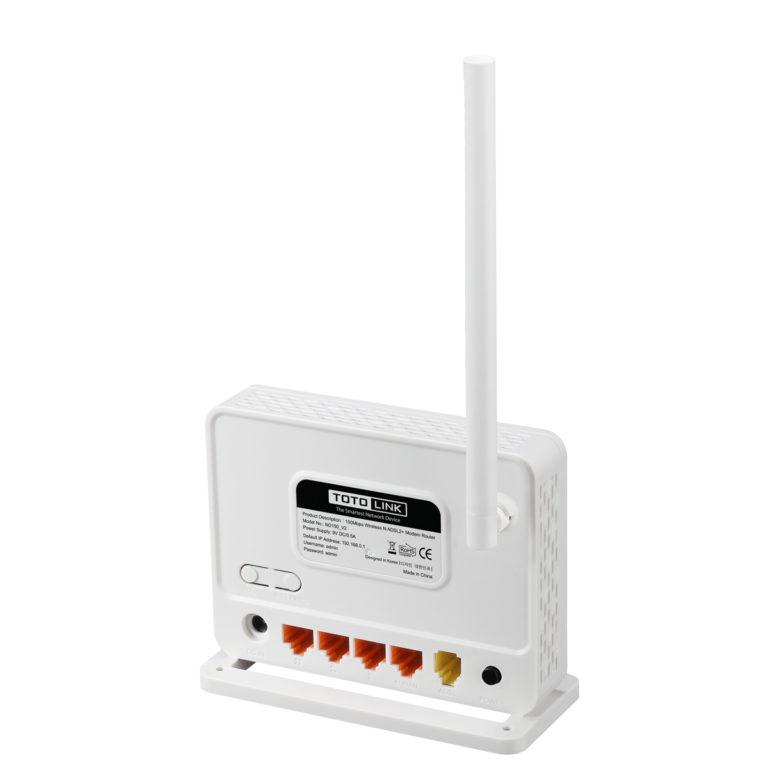 TotoLink ND150 150Mbps Wireless N ADSL 2/2+ Modem Router lisconet.com